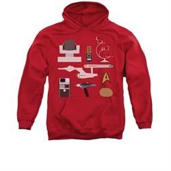 Star Trek Hoodie Gift Set Red Sweatshirt Hoody
