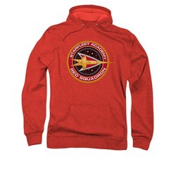 Star Trek Hoodie Red Squadron Red Sweatshirt Hoody