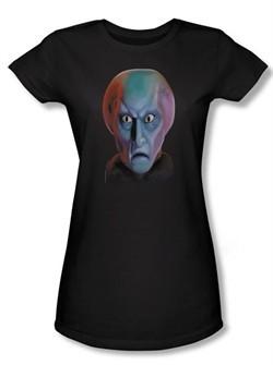 Star Trek Juniors Shirt Balok Head Black Tee T-Shirt