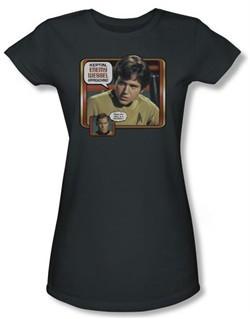 Star Trek Juniors Shirt Enemy Wessel Charcoal T-Shirt Tee