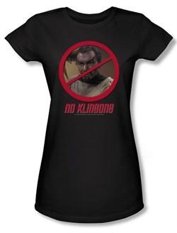 Star Trek Juniors Shirt No Klingons Black T-Shirt Tee