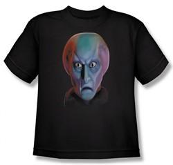 Star Trek Kids Shirt Balok Head Black Youth Tee T-Shirt