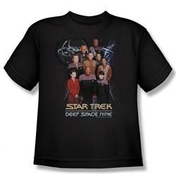 Star Trek Kids Shirt Ds9 Crew Black Youth T-Shirt Tee
