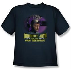 Star Trek Kids Shirt Not A Hair Dresser Navy Blue Youth Tee T-Shirt