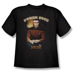 Star Trek Kids Shirt Poker Face Black Youth Tee T-Shirt