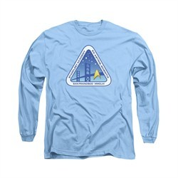 Star Trek Shirt Academy Logo Long Sleeve Carolina Blue Tee T-Shirt