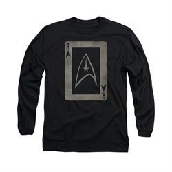 Star Trek Shirt Ace Long Sleeve Black Tee T-Shirt