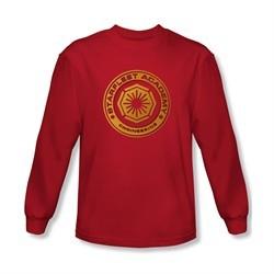 Star Trek Shirt Engineering Long Sleeve Red Tee T-Shirt