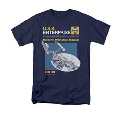 Star Trek Shirt Enterprise Manual Navy T-Shirt