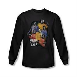 Star Trek Shirt Galaxy Glow Long Sleeve Black Tee T-Shirt