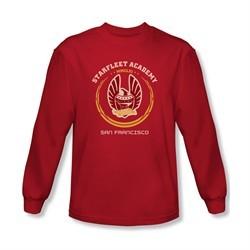 Star Trek Shirt Heraldry Long Sleeve Red Tee T-Shirt
