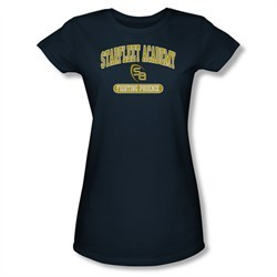 Star Trek Shirt Juniors Academy Logo Navy T-Shirt
