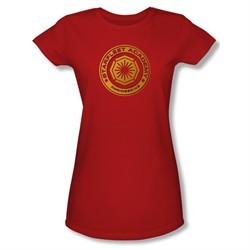 Star Trek Shirt Juniors Engineering Red T-Shirt