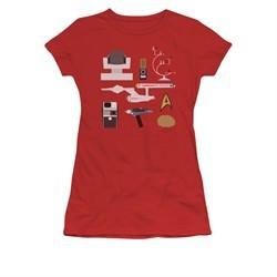 Star Trek Shirt Juniors Gift Set Red T-Shirt