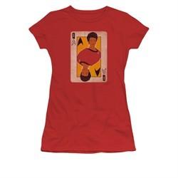 Star Trek Shirt Juniors Queen Red T-Shirt