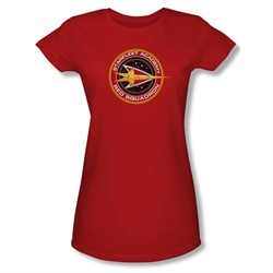 Star Trek Shirt Juniors Red Squadron Red T-Shirt