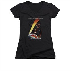 Star Trek Shirt Juniors V Neck Insurrection Black T-Shirt