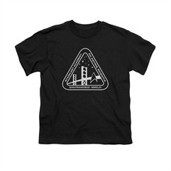 Star Trek Shirt Kids Academy Logo Black T-Shirt