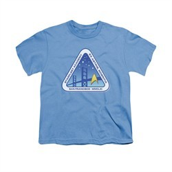 Star Trek Shirt Kids Academy Logo Carolina Blue T-Shirt