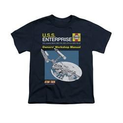 Star Trek Shirt Kids Enterprise Manual Navy T-Shirt