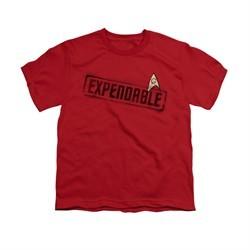 Star Trek Shirt Kids Expendable Red T-Shirt