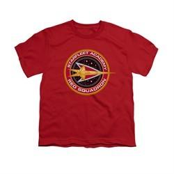 Star Trek Shirt Kids Red Squadron Red T-Shirt