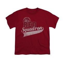 Star Trek Shirt Kids Red Squadron Sports Logo Cardinal T-Shirt