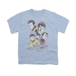 Star Trek Shirt Kids Retro Crew Light Blue T-Shirt