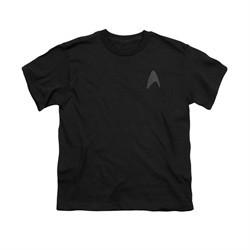 Star Trek Shirt Kids Star Fleet Logo Black T-Shirt