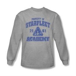 Star Trek Shirt Property Of Long Sleeve Athletic Heather Tee T-Shirt