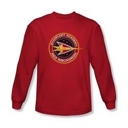Star Trek Shirt Red Squadron Long Sleeve Red Tee T-Shirt