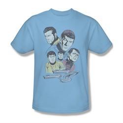 Star Trek Shirt Retro Crew Light Blue T-Shirt