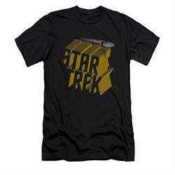 Star Trek Shirt Slim Fit 3D Logo Black T-Shirt