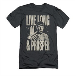Star Trek Shirt Slim Fit Prosper Charcoal T-Shirt