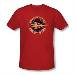Star Trek Shirt Slim Fit Red Squadron Red T-Shirt