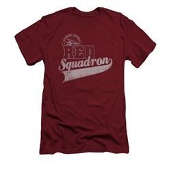 Star Trek Shirt Slim Fit Red Squadron Sports Logo Cardinal T-Shirt
