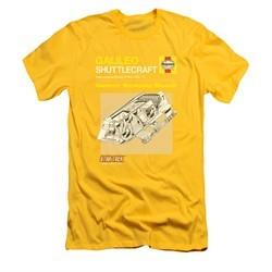 Star Trek Shirt Slim Fit Shuttle Manual Gold T-Shirt