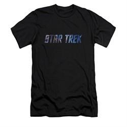 Star Trek Shirt Slim Fit Space Logo Black T-Shirt