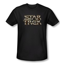 Star Trek Shirt Slim Fit Steel Logo Black T-Shirt