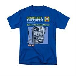 Star Trek Shirt Tricorder Manual Royal Blue T-Shirt