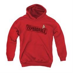 Star Trek Youth Hoodie Expendable Red Kids Hoody