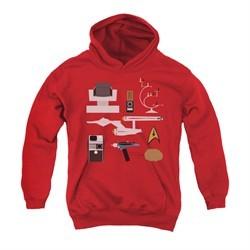 Star Trek Youth Hoodie Gift Set Red Kids Hoody