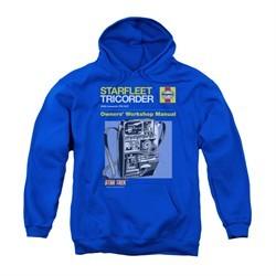 Star Trek Youth Hoodie Tricorder Manual Royal Blue Kids Hoody