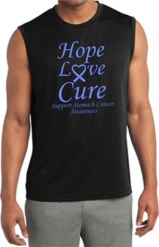 Stomach Cancer Tee Hope Love Cure Dry Wicking Sleeveless Shirt