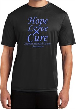 Stomach Cancer Tee Hope Love Cure Dry Wicking T-shirt
