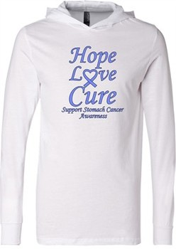 Stomach Cancer Tee Hope Love Cure Lightweight Hoodie