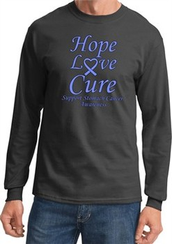Stomach Cancer Tee Hope Love Cure Long Sleeve