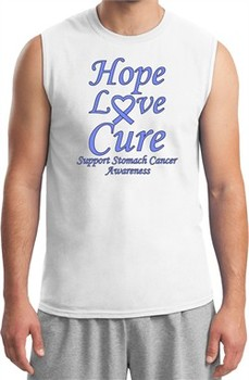 Stomach Cancer Tee Hope Love Cure Muscle Shirt