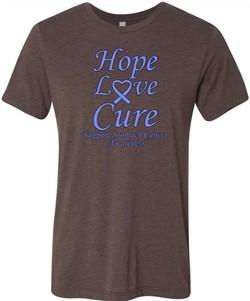 Stomach Cancer Tee Hope Love Cure Tri Blend Tee