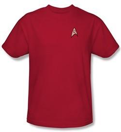 Star Trek Shirt Engineering Uniform Adult Red Tee T-Shirt